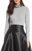 Eliza J Women's Sequin Mock Neck Sweater