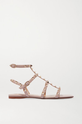 Valentino Garavani Rockstud Leather Sandals - Blush