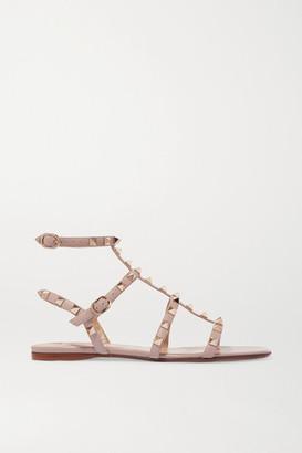 Valentino Garavani The Rockstud Leather Sandals - Blush