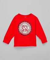 Swag Red Polka Dot Scallop Monogram Tee - Toddler & Girls