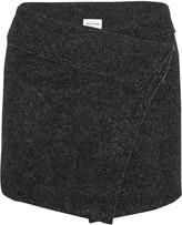 Etoile Isabel Marant Dailon wool-blend bouclé wrap mini skirt