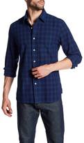 Jack Spade Great Indigo Plaid Trim Fit Shirt