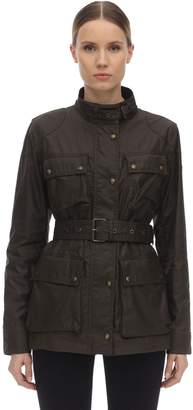 Belstaff BELTED WAXED COTTON JACKET