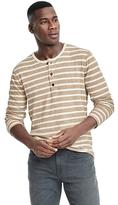 Banana Republic Stripe Duofold Henley
