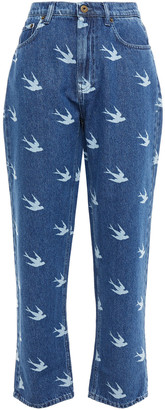 McQ Printed High-rise Straight-leg Jeans