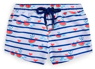 Sunuva Watermelon Whale Print Swim Shorts