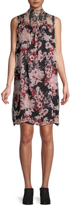 Vince Camuto Floral Sleeveless Shift Dress