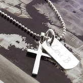 Silver Cross Hurleyburley Junior Personalised And Mini Dogtag Necklace