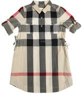 Burberry Check Cotton Muslin Maxi Shirt