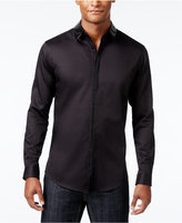 INC International Concepts Men's Faux-Leather Trimmed Shirt, Only at Macy's