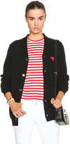 Comme des Garcons Wool Red Heart Emblem Cardigan