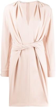 Stella McCartney Twist-Front Split-Sleeve Dress