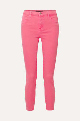 J Brand Alana High-rise Skinny Jeans - Bright pink