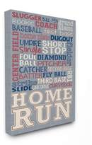 Stupell Industries Baseball Denim Feel Stretched Canvas Wall Art