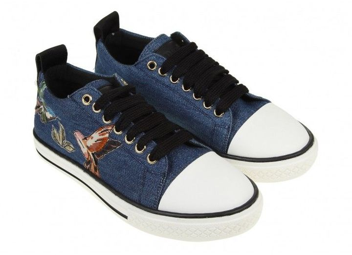 RED Valentino Sneakers Blue Denim