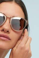 Anthropologie Matte Champagne Round Sunglasses
