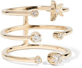 Andrea Fohrman Triple Star 18-karat Gold Diamond Ring - 7