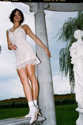 Haute Rogue Daisy Lace Mini Dress
