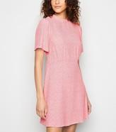 New Look Daisy Print Flutter Sleeve Mini Dress
