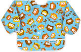 Bumkins Blue Owl Sleeved Bib