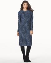 Soma Intimates Long Sleeve Side Drape Short Dress Azurite Multi