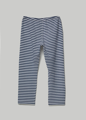 Engineered Garments Women's Stk Pant in Navy/White Pc Stripe Jersey Size 0