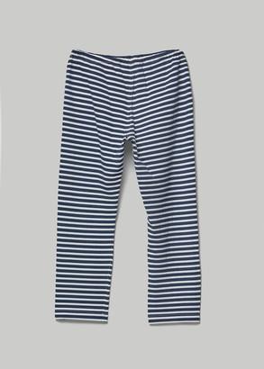 Engineered Garments Women's Stk Pant in Navy/White Pc Stripe Jersey Size 0