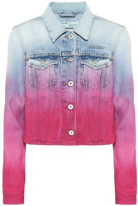 Off-White Tie-dye denim jacket