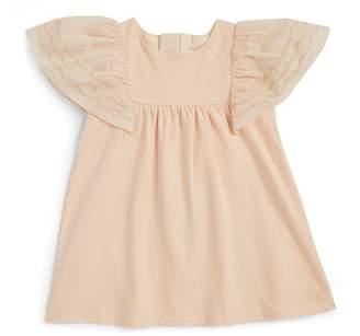 Chloé Kids Metallic Embroidered Dress