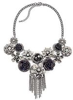 JCPenney Flower Beaded Statement Necklace