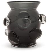 AERIN Abel Small Glass Vase - Blue