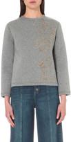 RED Valentino Appliqué-detail cotton sweatshirt