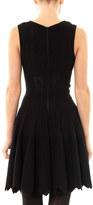 Azzedine Alaia Mantile perforated zigzag dress