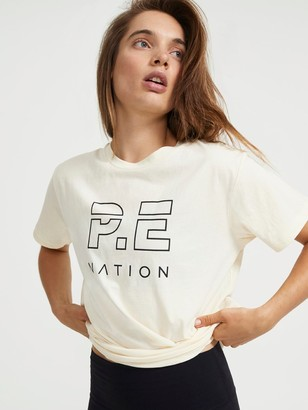 P.E Nation Heads Up T-Shirt in Off-White