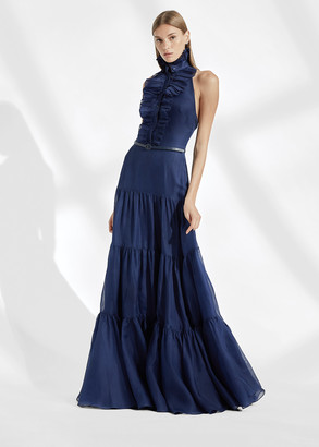 Ralph Lauren Emilia Silk Evening Dress