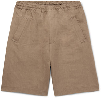 Margaret Howell Linen and Cotton-Blend Twill Drawstring Shorts - Men