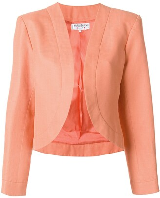 Yves Saint Laurent Pre Owned Open Front Blazer