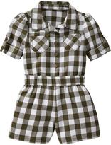 Old Navy Gingham Button-Front Rompers for Baby