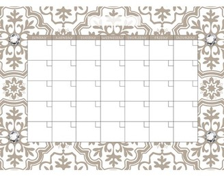 WallPops! WallPops Kolkata Monthly Calendar Decal Set of 2
