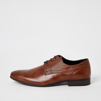River Island Brown embossed derby shoes