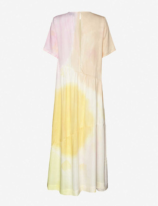 Collina Strada Ritual tie-dye rose-sylk maxi dress
