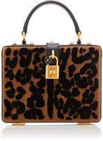 Dolce & Gabbana Leopard-Print Leather Box Bag- Animal