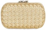 Corto Moltedo Woven Metallic Leather Clutch