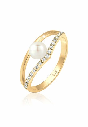 Elli Women's 925 Sterling Silver Solitaire Anniversary Ring N 0602382318_54