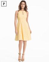 White House Black Market Petite Lace Halter A-line Dress