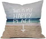 Deny Designs Happy Place Beach Throw Pillow