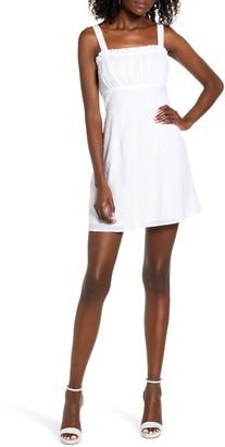 Rowa Ruffle Sleeveless Minidress