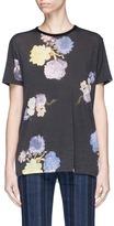 Acne Studios 'Taline W' floral velvet flock print wool T-shirt