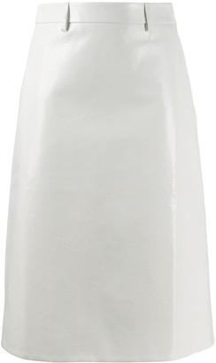 Prada mid-length leather skirt