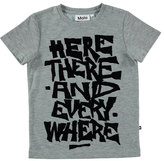 Molo Ravento Heathered Graphic Tee, Gray, Size 4-12